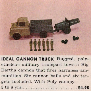 120mm Flats; 120mm Toy Soldiers; Artillery Cannon; Artillery Gun; Artillery Piece; Big Bertha; Cannon Truck; Fall Down Soldiers; Gun Truck; Ideal Toy Company; Ideal Toy Soldiers; Imported Plastic Figures; ITC; Kleeware; Kleeware Toy Soldiers; Made In America; Shooting Game; Small Scale World; smallscaleworld.blogspot.com; US Toy Soldiers;