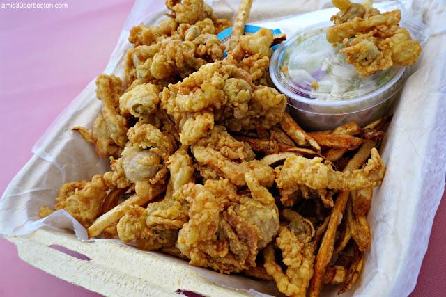 Marisco en Erica's Seafood, Harpswell