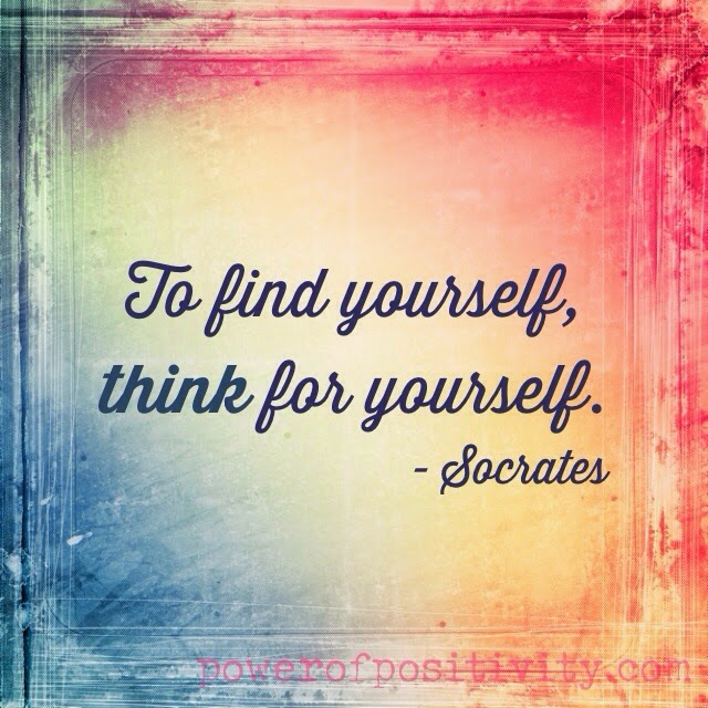 MOTIVATION 15 Best Socrates Picture Quotes - To find yourself, think for yourself. - Socrates