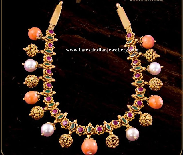 Corals and Nakshi Balls Necklace