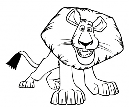 Free Alex The Lion Coloring Page, Download Free Clip Art, Free Clip Art on  Clipart Library | 350x423