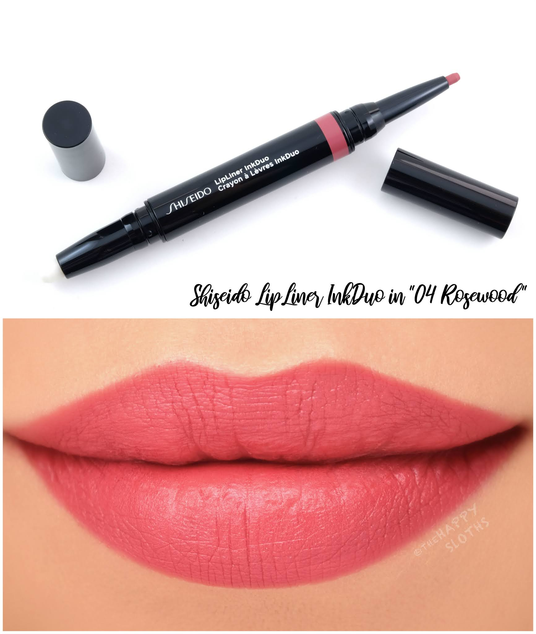 "Shiseido | LipLiner InkDuo in ""04 Rosewood"": Review and Swatches"