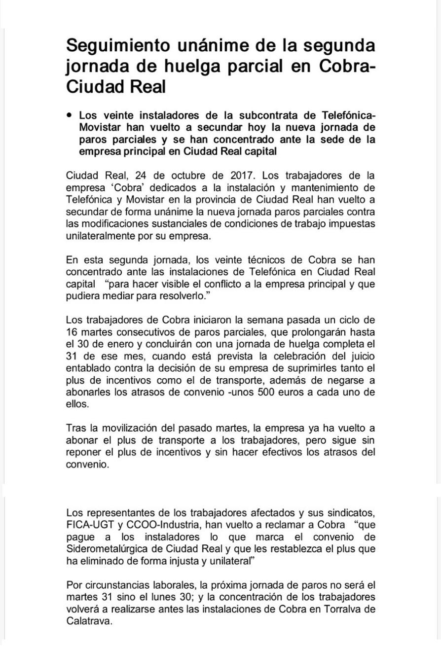 octubre 2017 | Contratas, Subcontratas y Autonom@s de Telefónica ...