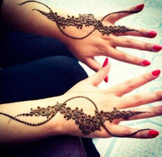 Simple Arabic Mehndi designs for fingers