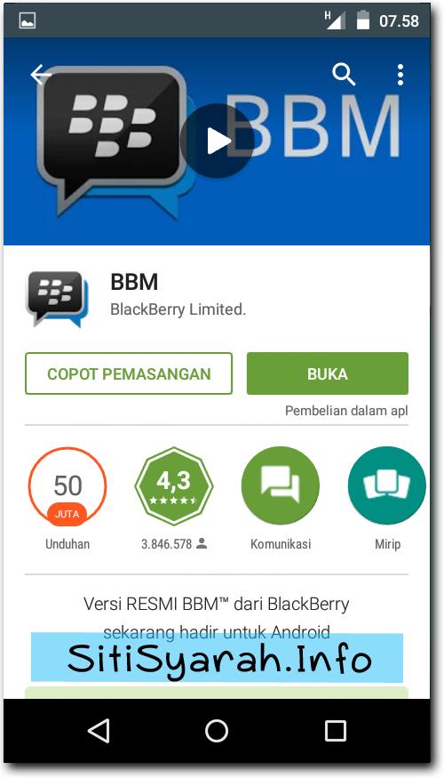 DP BBM Tidak Muncul di Android