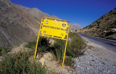 Leh–Manali highway in Northern India probably has the most unusual road signs in the world In Northern India