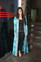 Megha Akash in a beautiful Anarkali dress with Long Jacket at LIE success meet ~  Exclusive Celebrities Galleries 039.JPG