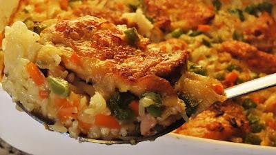 Zapečena piletina s rižom i povrćem / Oven Roasted Chicken with Rice and Vegetables