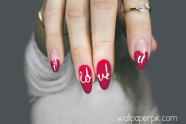 i love you girl hand image