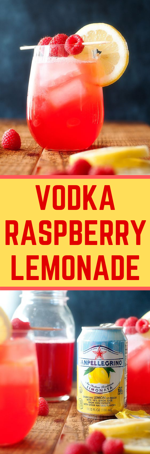 VODKA RASPBERRY LEMONADE #Cocktail #DrinkUp
