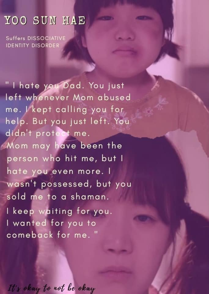 i hate you dad you leave me alone whenever mom abused me- yoo sun hae