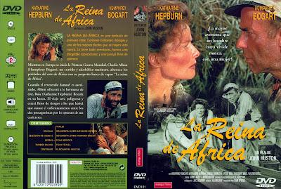 La reina de África (1951) | Caratula |  Cine clásico |  Carátula: La reina de África (The African Queen)