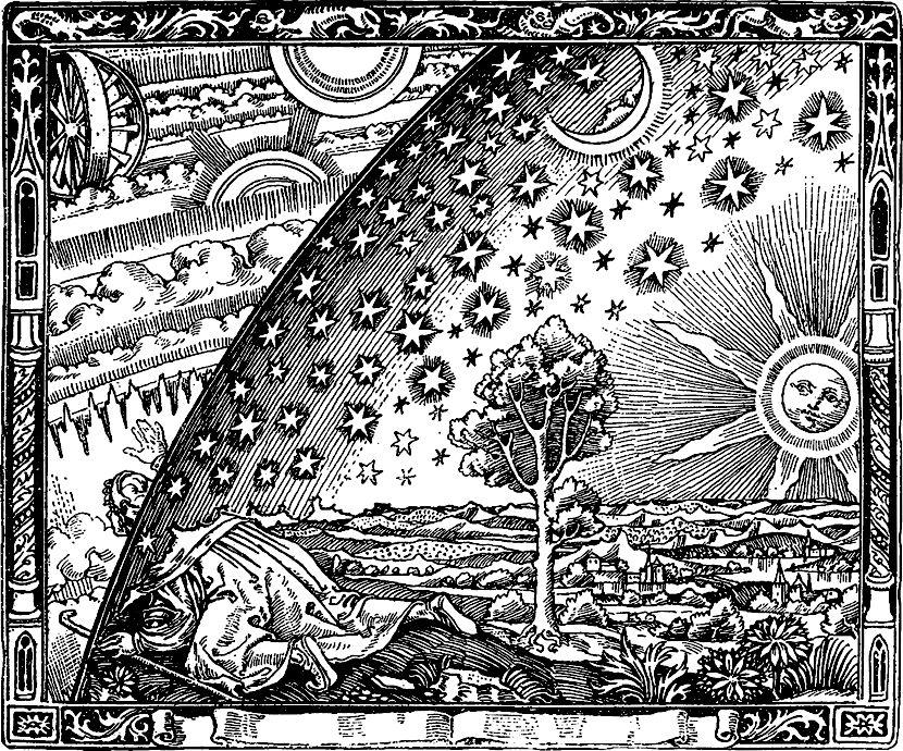 Grabado anónimo de la obra de Flammarion 'L'atmosphère', 1888