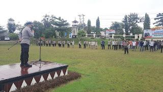 Amankan Rangkaian Paskah, 393 Personel Polres Lampung Utara di Siagakan
