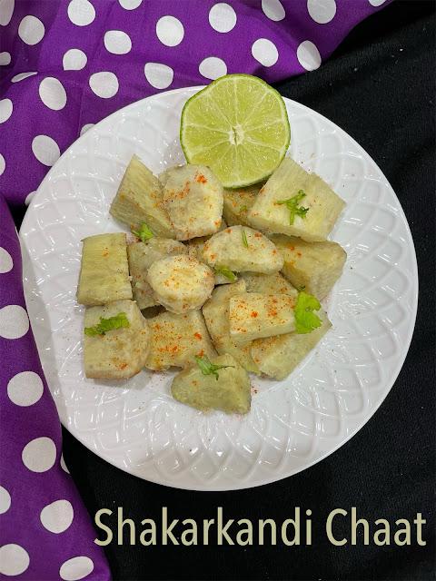 Shakarkandi ki Chaat / Sweet potato chaat