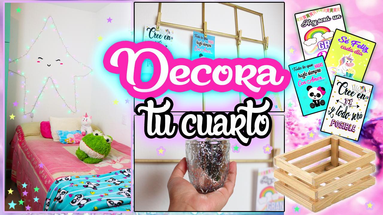 IDEAS para DECORAR TU CUARTO | Manualidades con Mariel Picazo