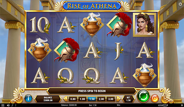 Main Gratis Slot Indonesia - Rise of Athena (Play N GO)