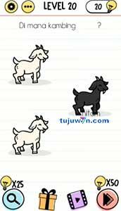 brain test dimana kambing hitam