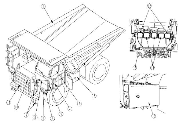 Komatsu dump truck HD465-7 (mekanikal)