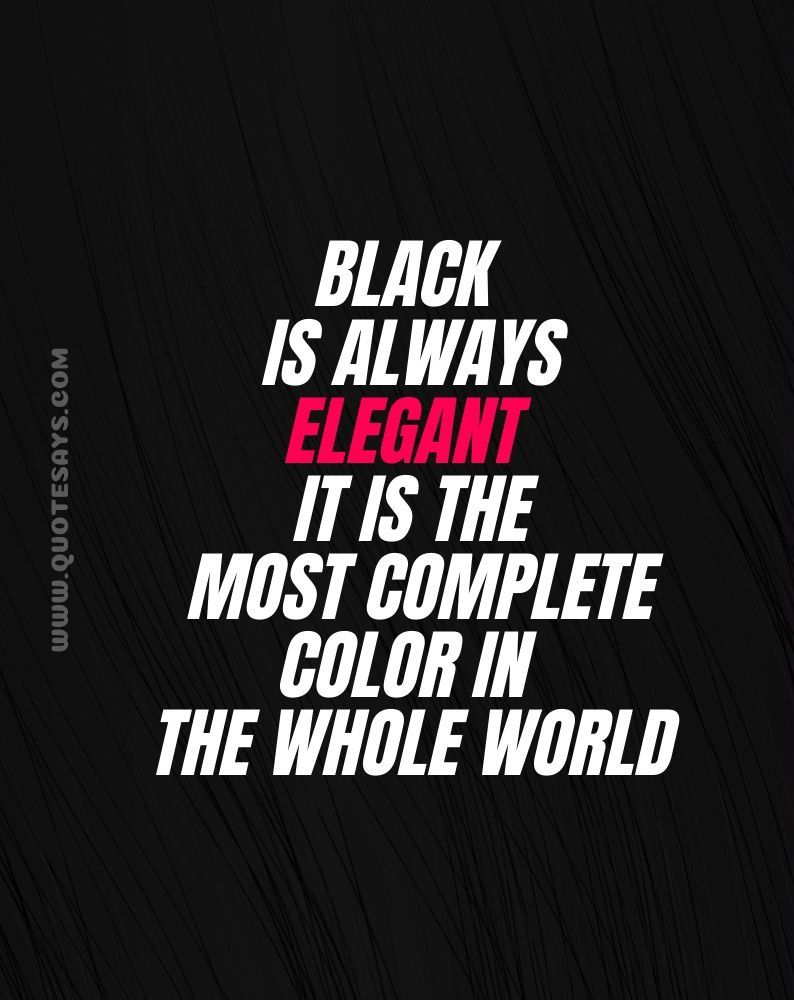 Quotes on black colour