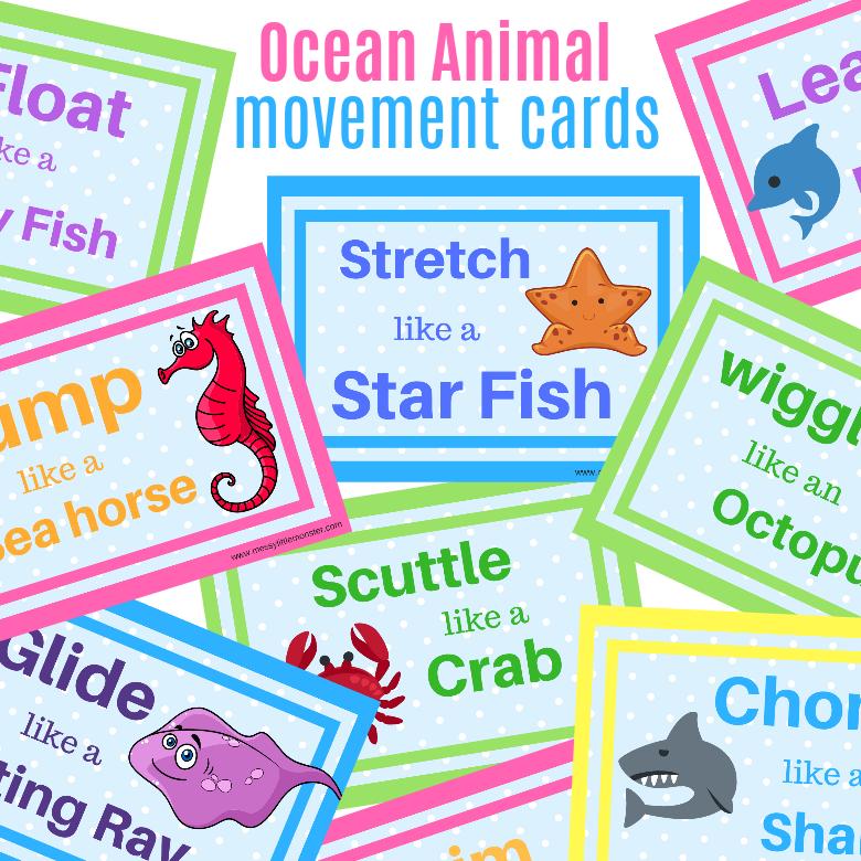 printable games for kids - movement game