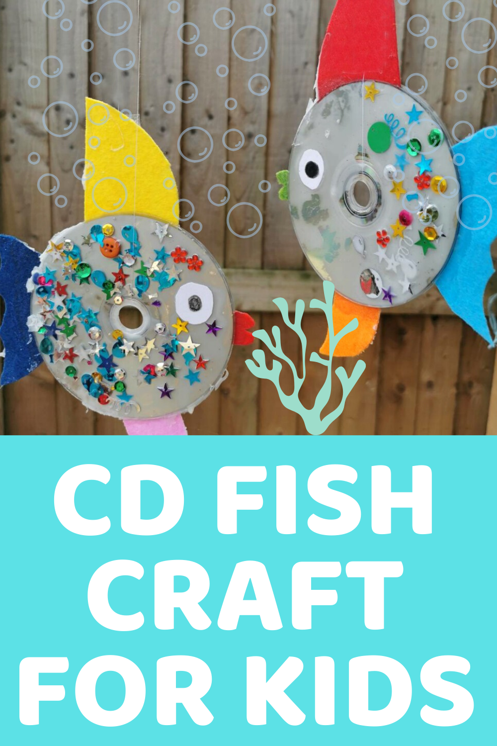Under The Sea Themed Crafts For Kids - CD Fish Craft
