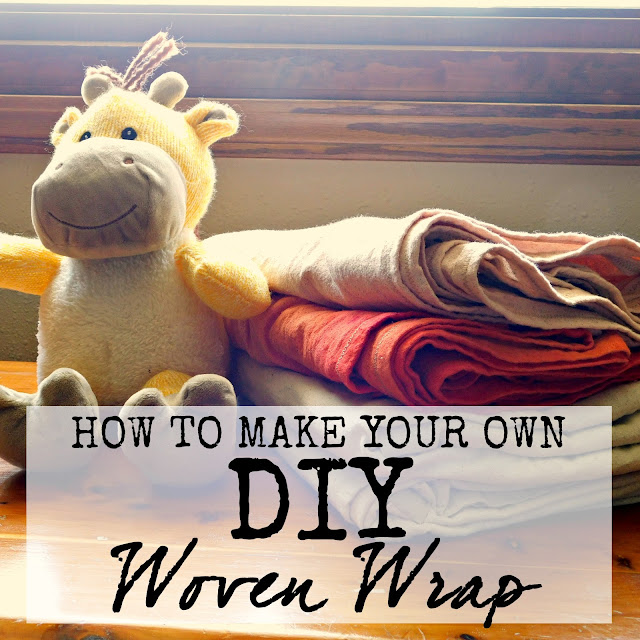 tutorial how to make a woven wrap DIY baby carrier