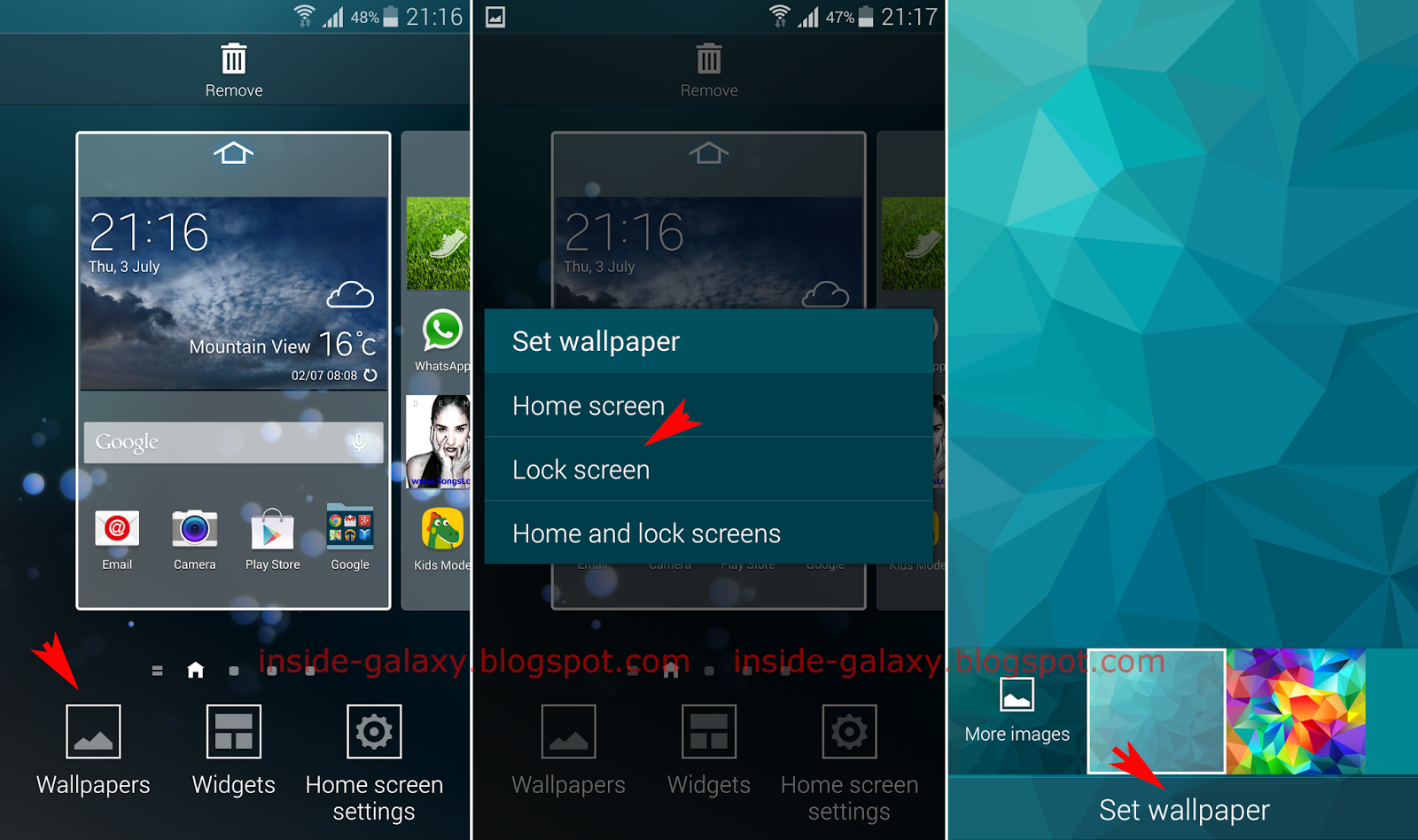 how to set lock screen wallpaper android