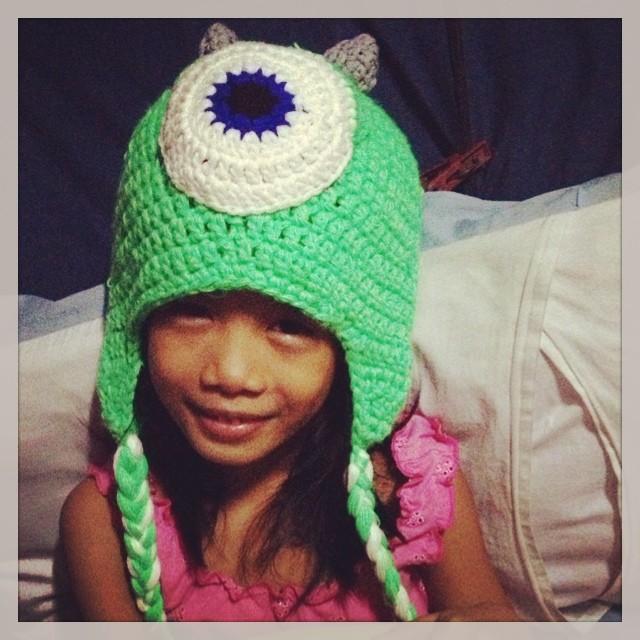 Mike Wazowski Crochet Beanie