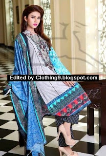 Eid Classic Embroidered Cotton Suits 2015-16 by Lala