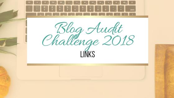 Blog Audit Challenge: Links #BookBlogging #Blogging #BlogAuditChallenge2018