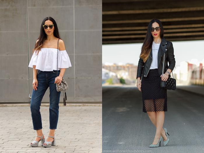Ideas para vestir a la moda y con estilo femenino elegante hombros al aire