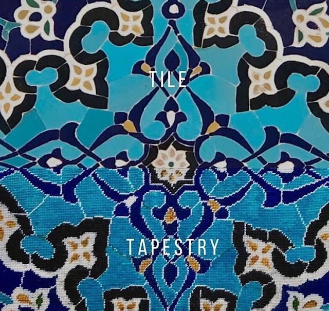 islamic tiles needlepoint tapestry, natalie fisher uzbekistan travels tapestry, uzbek art craft textile tours