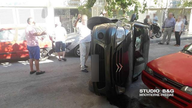 Ανατροπή αυτοκίνητου στην Κόρινθο