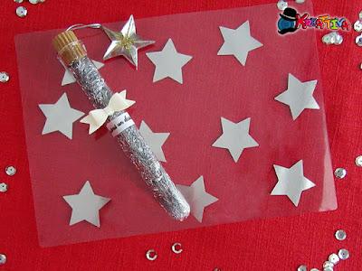 tovaglietta plastificata con stelle metallizzate