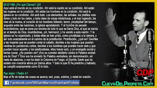Adulterio contra la Palabra de Dios - William Branham en Español