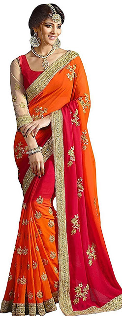 Zofey Georgette Saree With Blouse Piece - Best selling georgette saree amazon below 1300