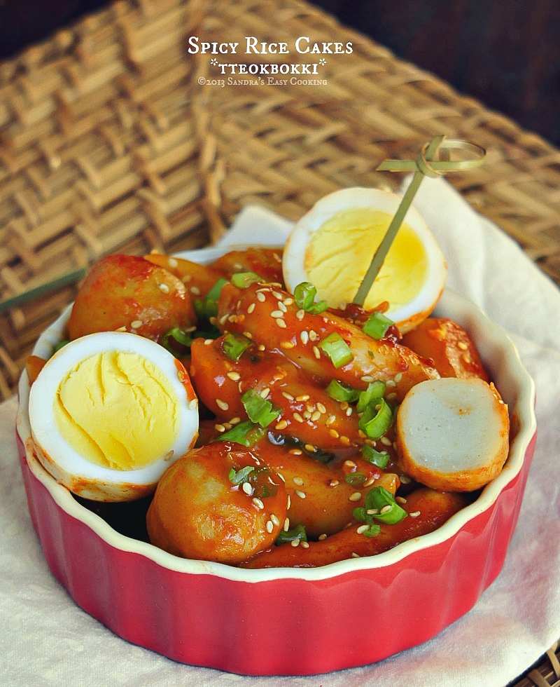 Recipe for Korean Spicy Rice Cakes-tteokbokki 떡볶이