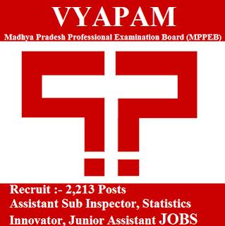 Madhya Pradesh Professional Examination Board, MPPEB, MP VYAPAM, VYAPAM, Madhya Pradesh, ASI, Junior Assistant, freejobalert, Sarkari Naukri, Latest Jobs, Hot Jobs, vyapam logo
