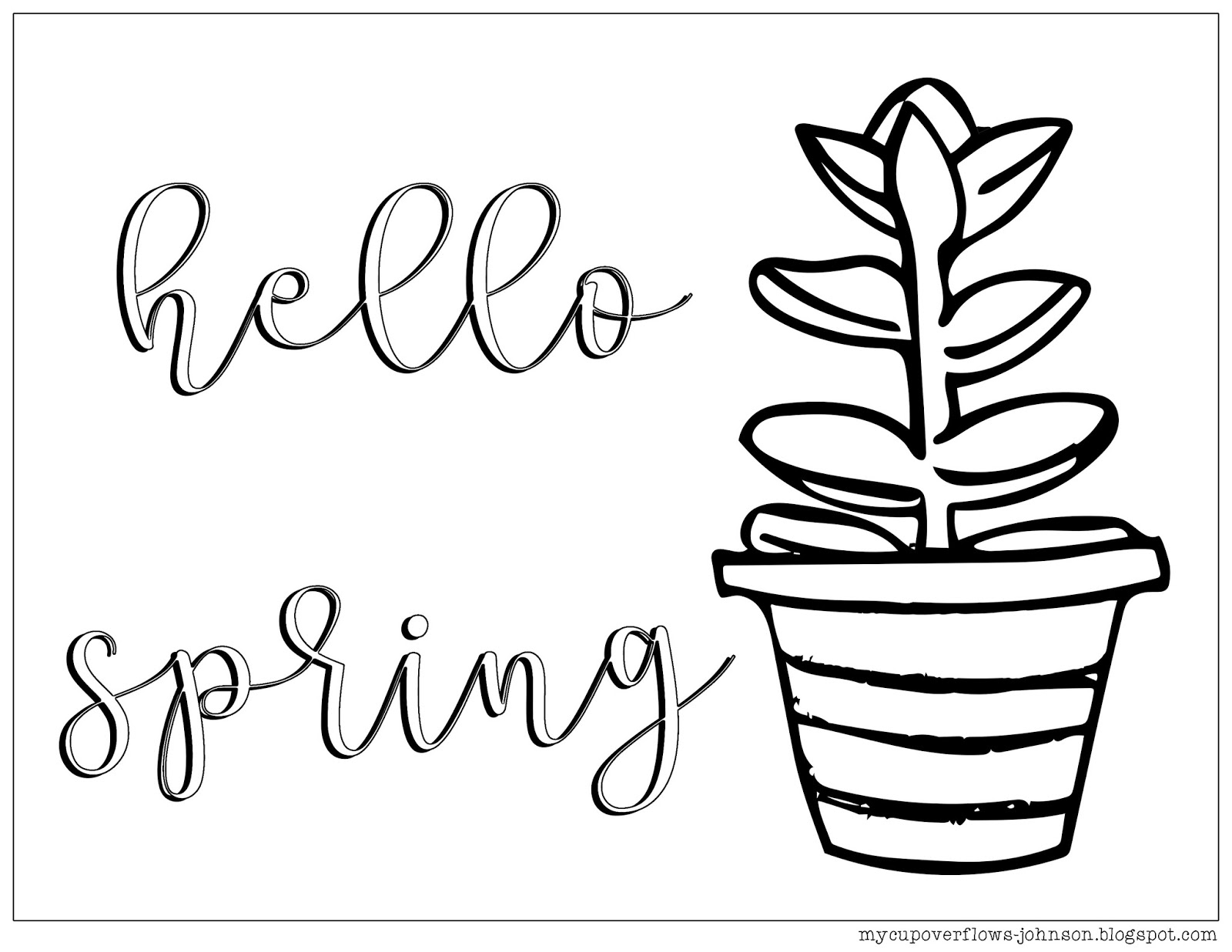 My Cup Overflows: Coloring Fun: Hello Spring