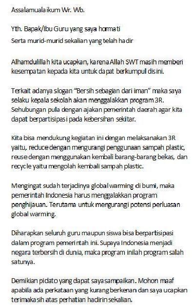contoh pidato disekolah www.simplenews.me