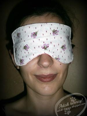 szycie DIY - opaska na oczy