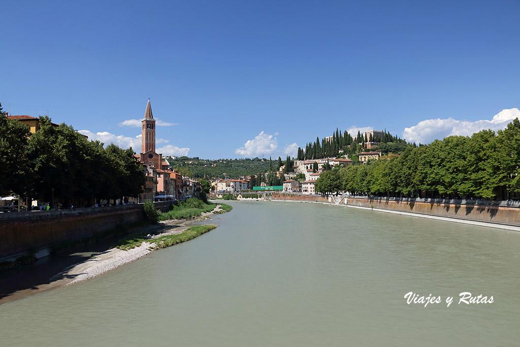 Río Adige, Verona