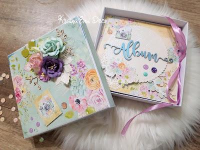 Harmonijkowy mini album w ozdobnym pudełku