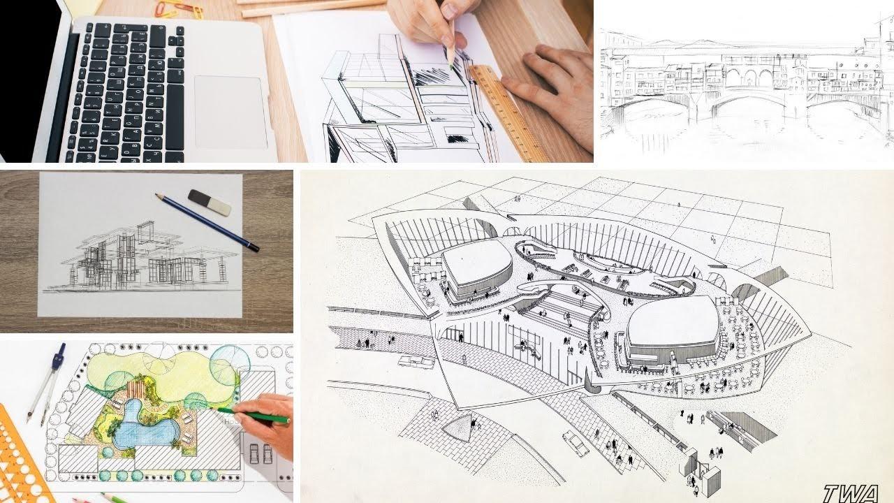 tugas gambar di jurusan arsitektur