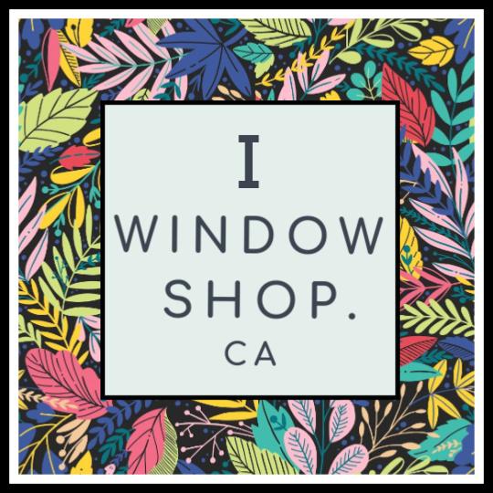 floral logo I window shop.ca