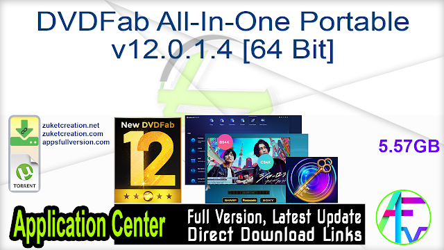 DVDFab All-In-One Portable v12.0.1.4 [64 Bit]