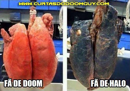 Pulmão de jogador de Doom vs. jogador de Halo