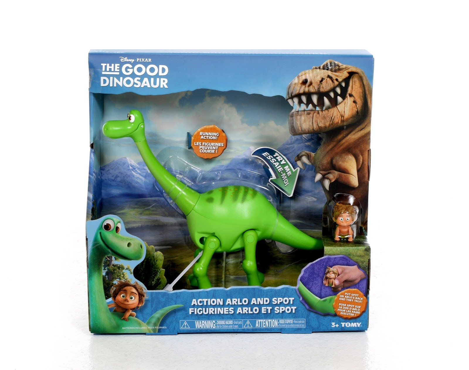 dan the pixar fan the good dinosaur action arlo and spot figure set. Black Bedroom Furniture Sets. Home Design Ideas