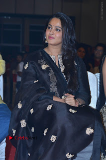 Actress Anushka Anushka Shetty Stills in Black Salwar Kameez at Om Namo Venkatesaya Audio Launch Event  0025.JPG
